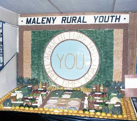 Maleny Rural Youth had a first-prize exhibit at the Maleny Show in June 1975. The exhibit was based on the theme