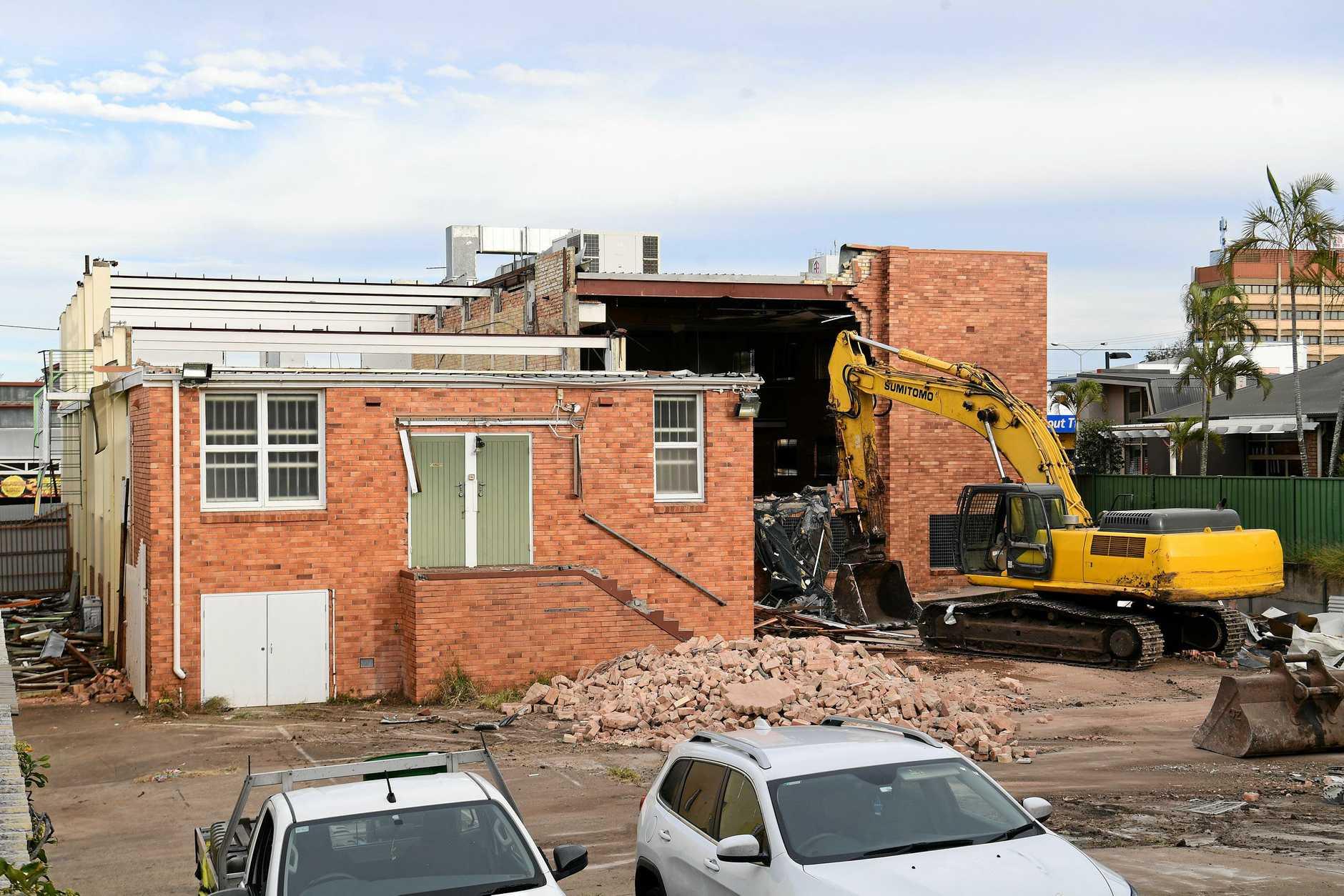 HERITAGE DESTRUCTION: The Salvation Army Citadel in Targo Street is  being demolished.