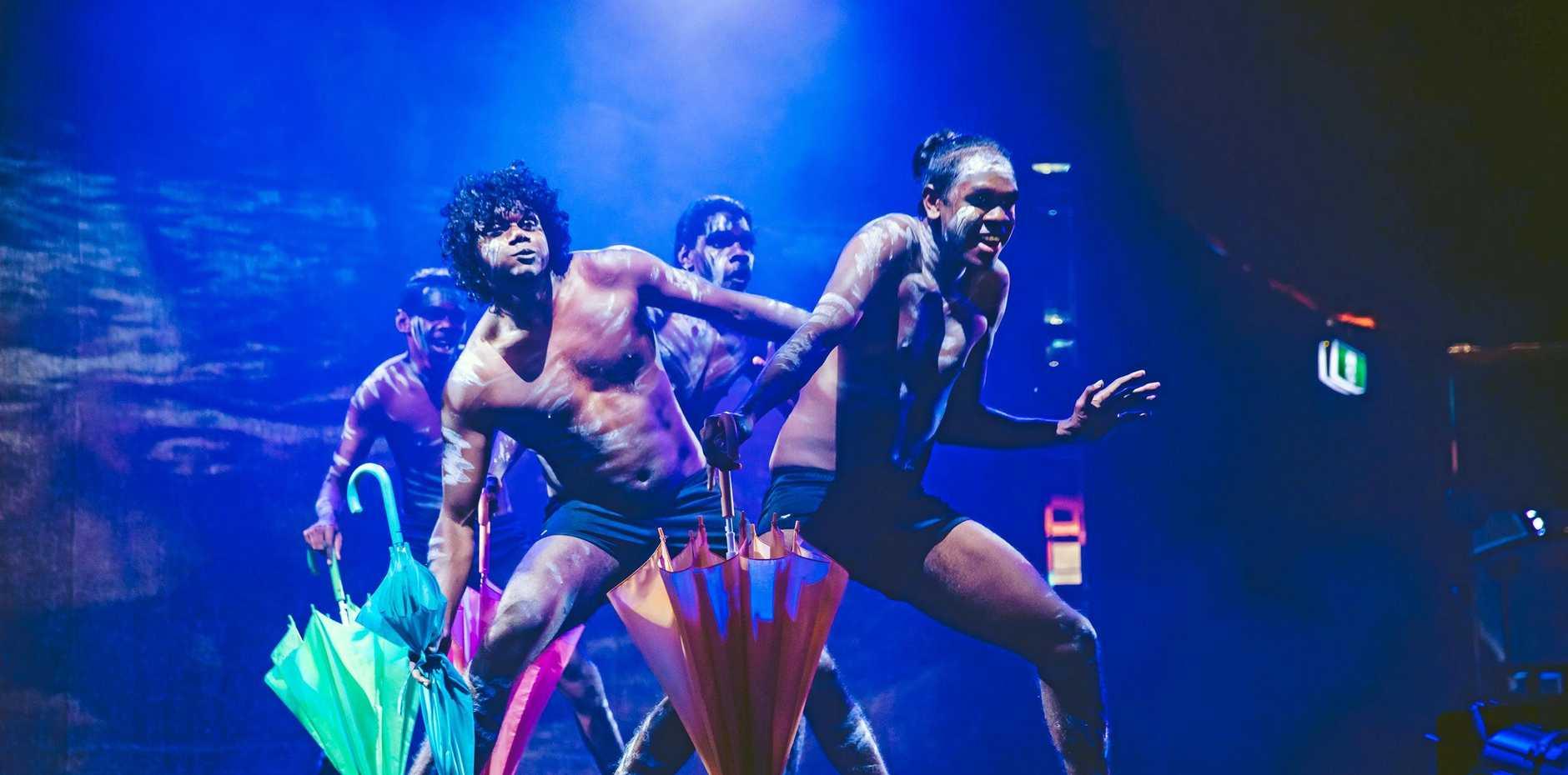 PERFORMERS: Indigenous dance group Djuki Mala