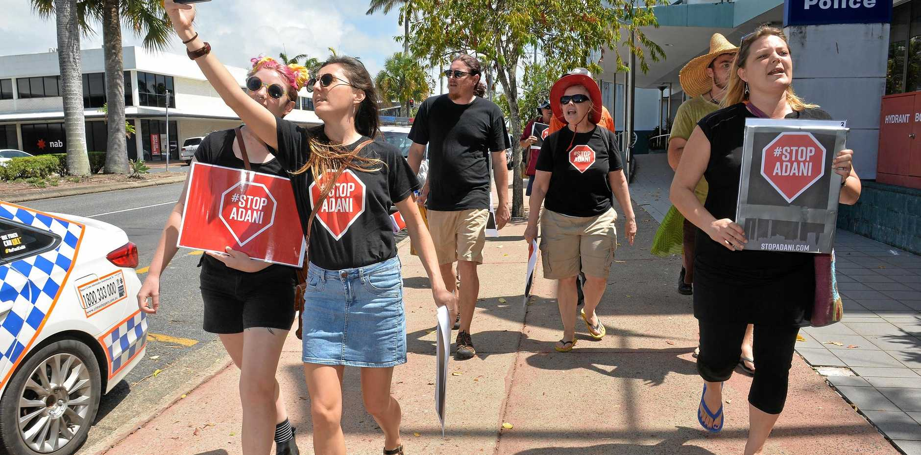 Stop Adani protesters in Mackay.