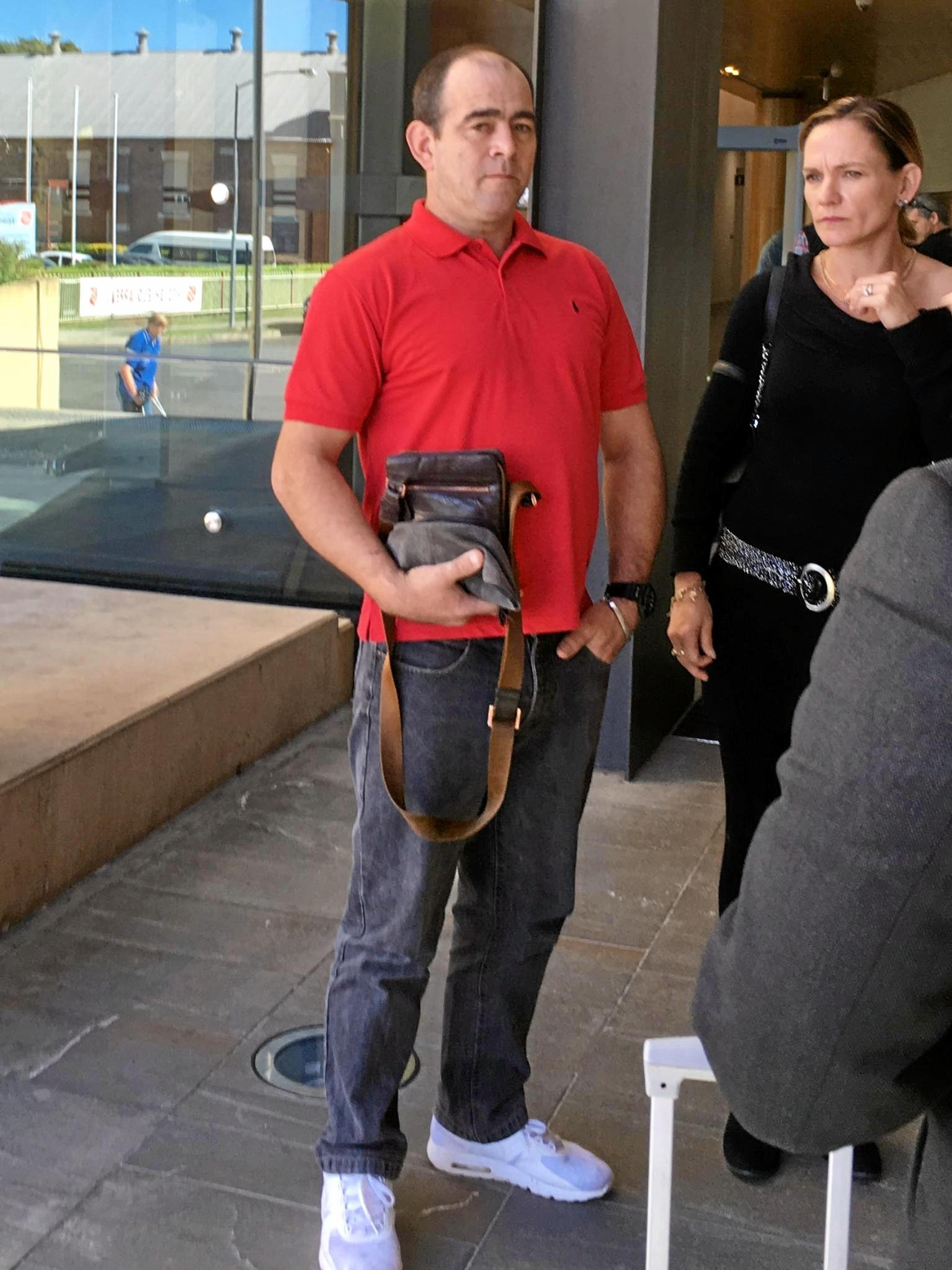 DRUG SUPPLY. Suspended greyhound trainer Anthony Hess leaves court after his conviction for drug offences.