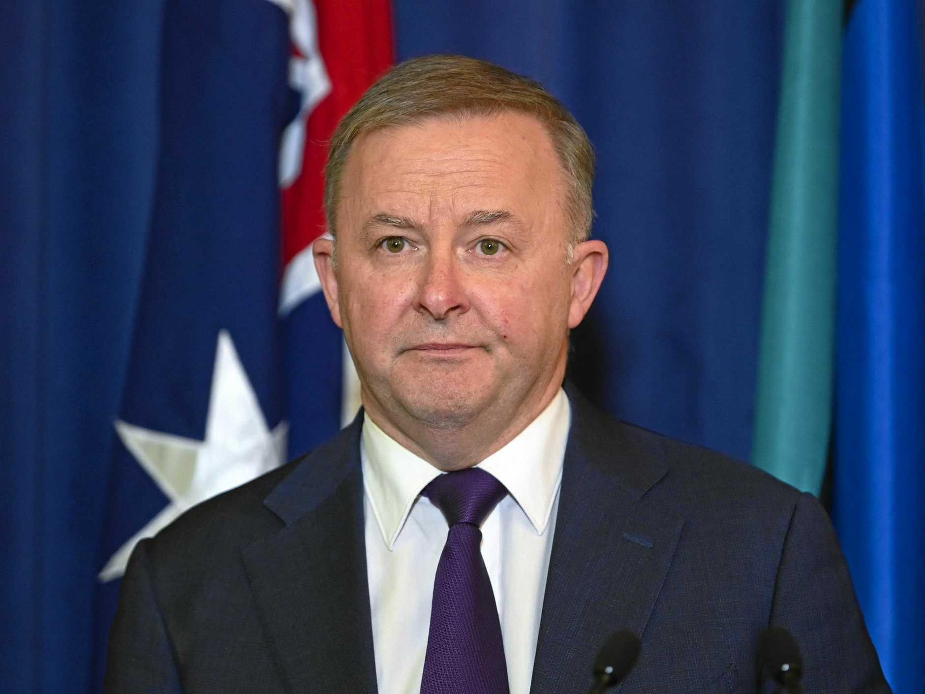 SAME AGAIN? Leader of the Opposition Anthony Albanese speaks to the media  at Parliament House in Canberra on Thursday.