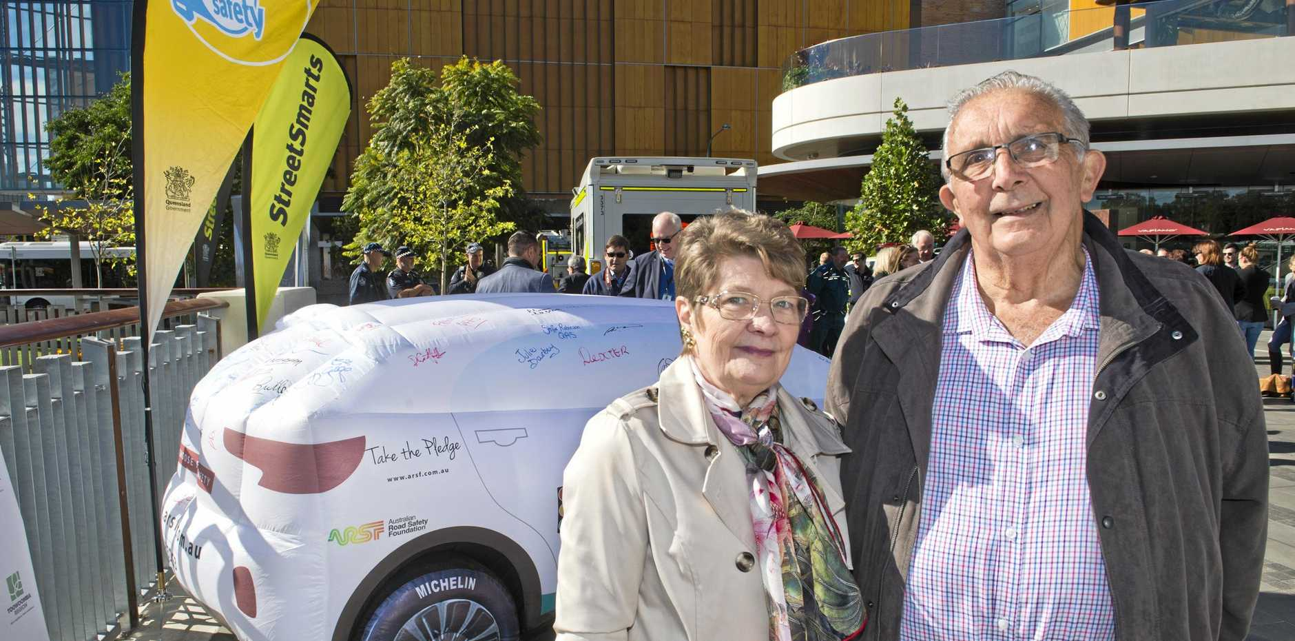 LIFE-SAVING INITIATIVE: Bev and Ken White, whose son Russell White started the Fatality Free Friday campaign in 2007, took the pledge for road safety.