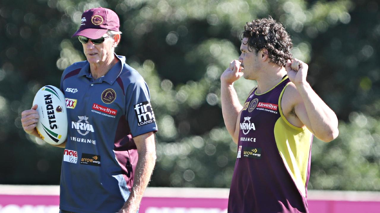 Wayne Bennett and James Roberts have been reunited at South Sydney. Picture: Annette Dew