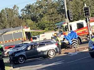 'Pools of blood': Hero rescues girl from crash carnage