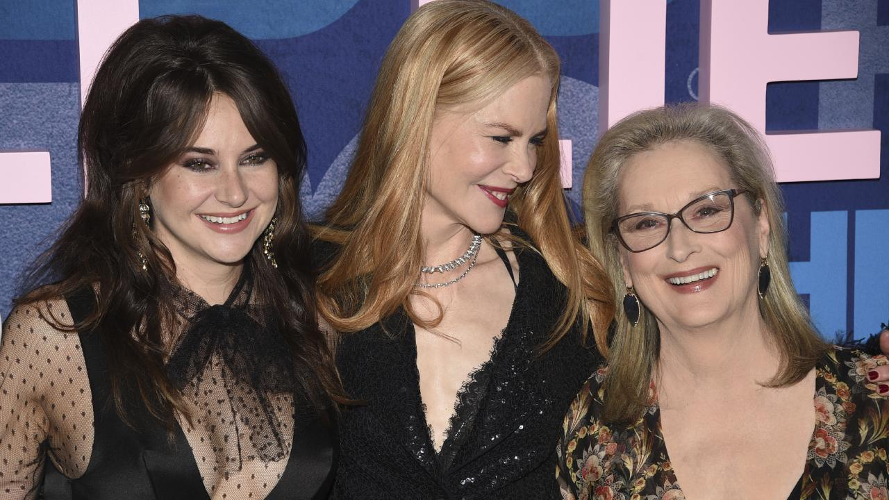 Shailene Woodley, from left, Nicole Kidman and Meryl Streep of Big Little Lies. Picture: AP