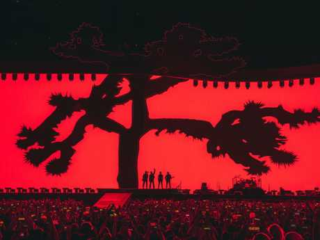 The Joshua Tree screen is the biggest ever used in a pop concert. Picture: Danny North.