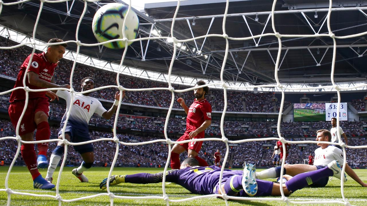 Roberto Firmino scored the winner at Wembley. Image: Julian Finney/Getty Images