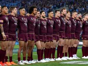 Maroons star comes out swinging on national anthem