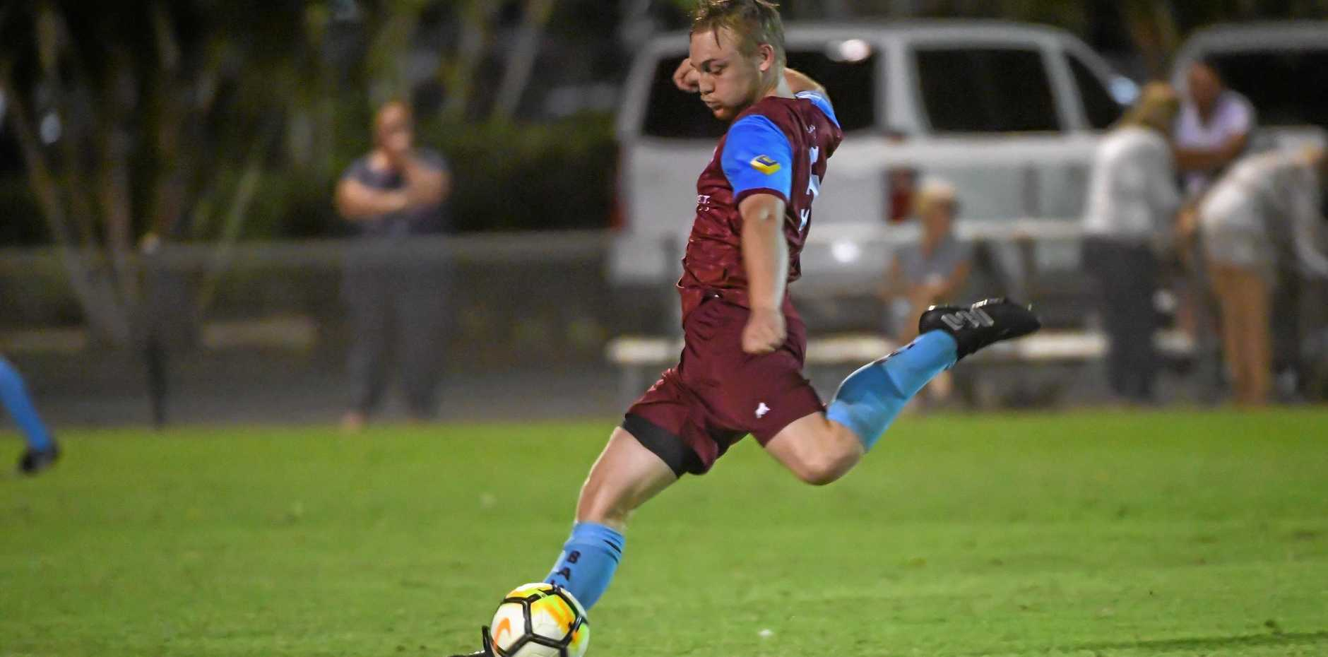 POWER: Brothers Aston Villa's Cohen Read kicks long earlier this season. The side faces the Wide Bay Buccaneers tonight at Martens Oval.
