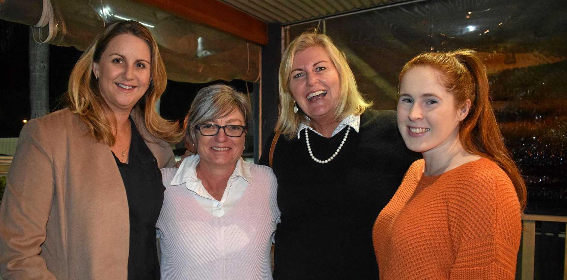 Kylie Hedge, Donna White, Kari Stephens and Kathleen McCosker enjoying the Small Business Week celebrations