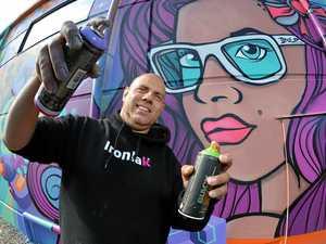 Boring to bold: Artist 'riding wave' of graffiti trend