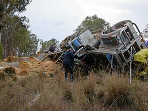 UPDATE: Hay truck rollover on Warwick-Allora Rd