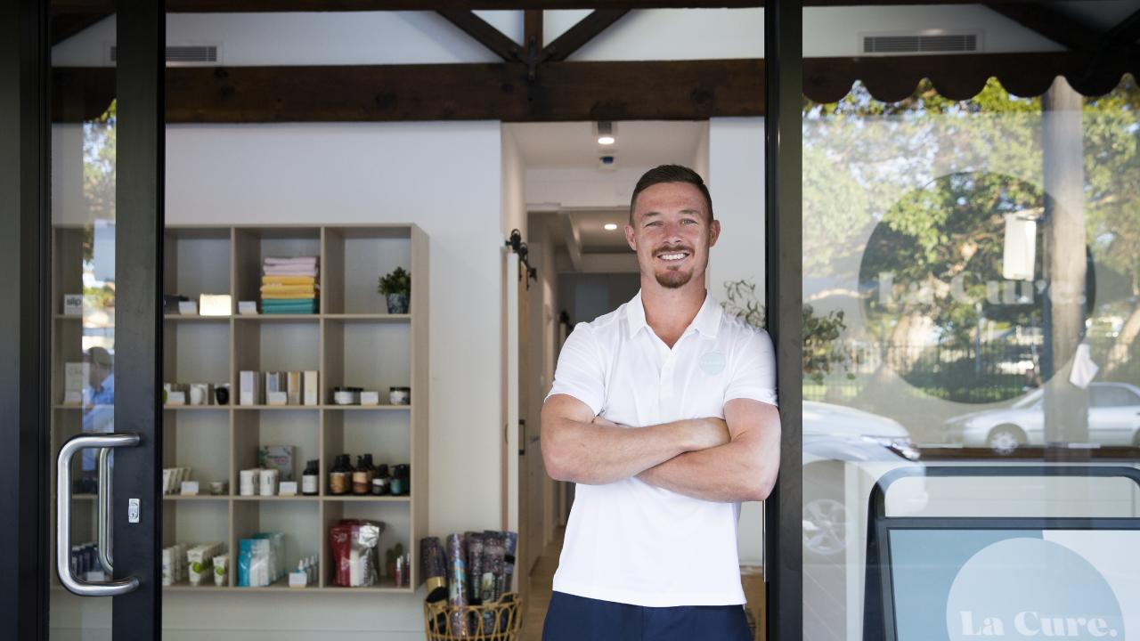 Damien Cook at his new health centre in Caringbah. Image: Dylan Robinson