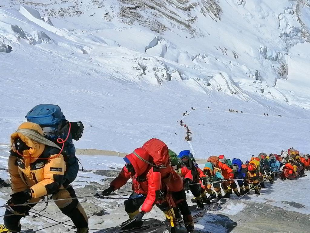 Seasoned mountaineers say the Nepal government's failure to limit the number of climbers on Mt Everest has resulted in dangerous overcrowding and a greater number of deaths. Picture: AP