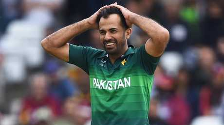 It was a tough day out for Pakistan's Wahab Riaz and the rest of his team. Picture: Getty