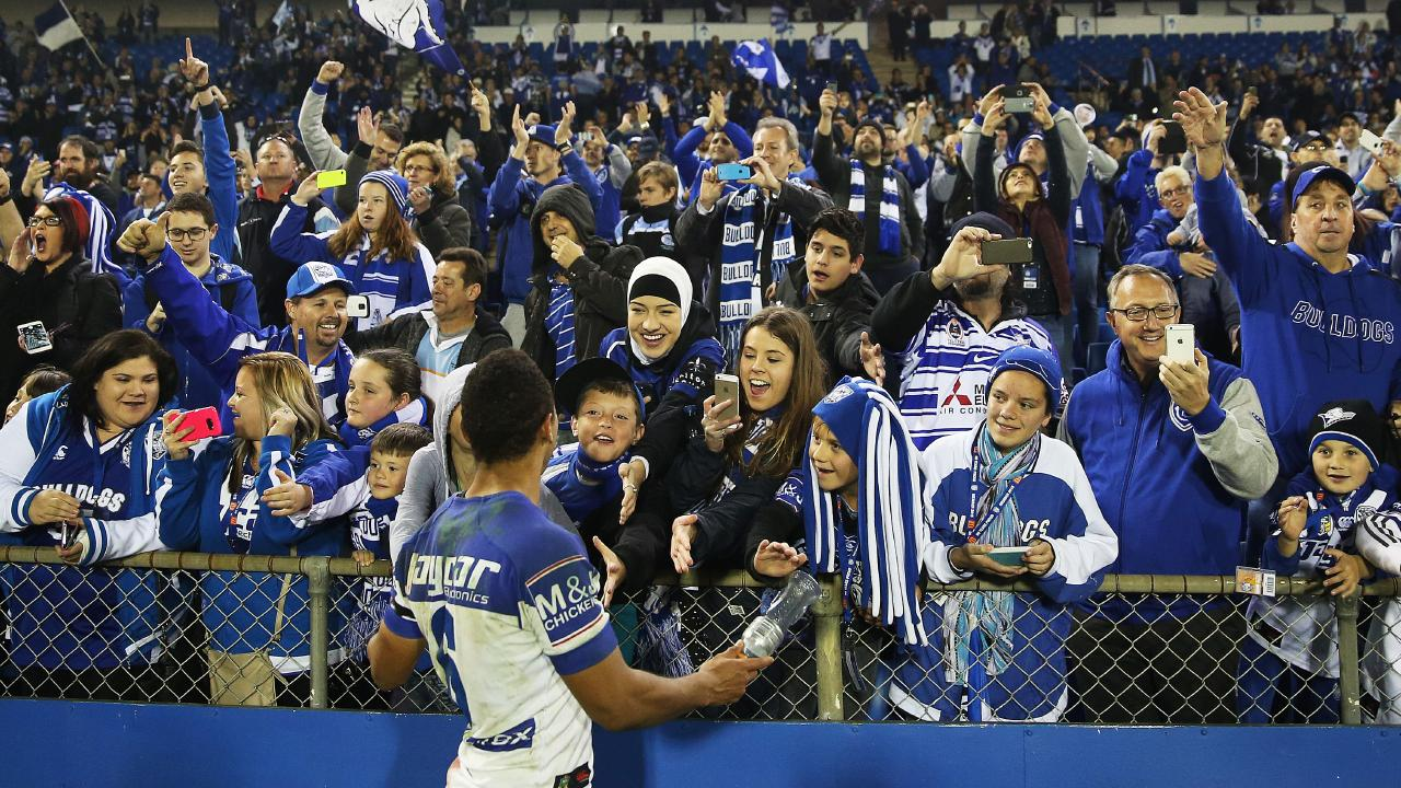 Mbye had a good connection with fans at Belmore. Image: Phil Hillyard