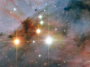 Mysterious force tearing into galaxy