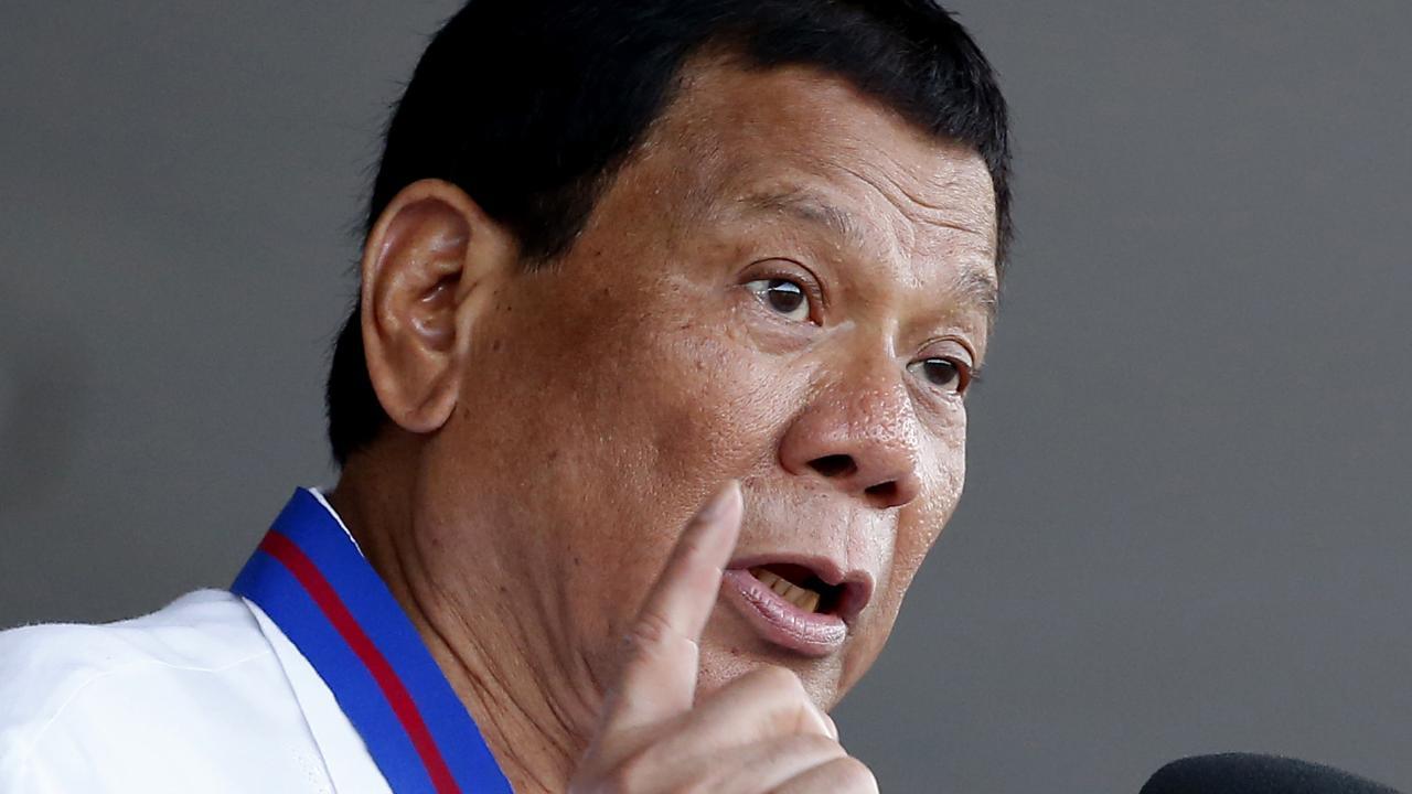 Philippine President Rodrigo Duterte. Picture: AP
