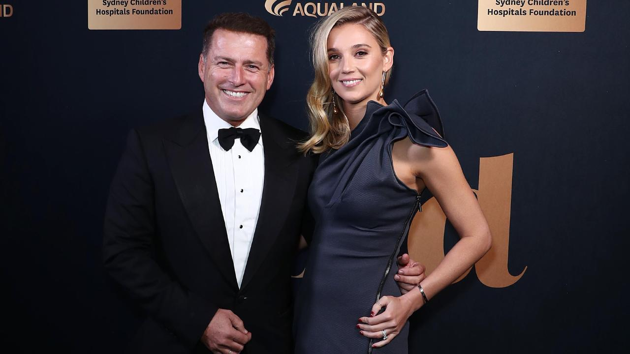 Karl Stefanovic, pictured with wife Jasmine Yarbrough, left the Today Show and has not been doing much since then. Picture: Mark Metcalfe/Getty Images