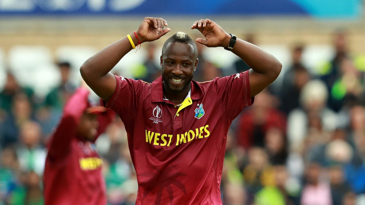 The West Indies' Andre Russell was a handful for Pakistan. Picture: David Rogers/Getty Images