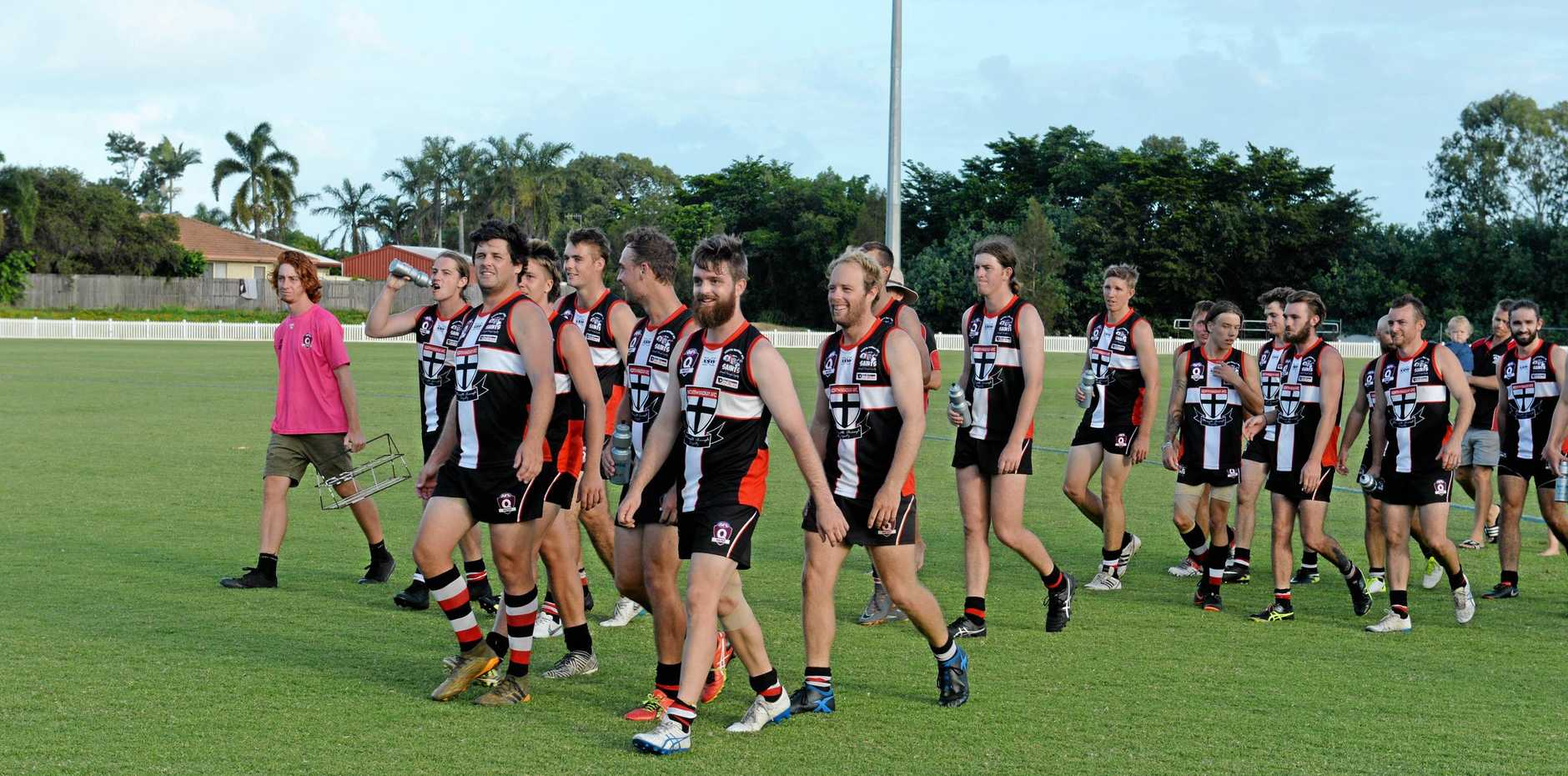 North Mackay Saints continue to set the pace in the AFL Mackay Allied Pickfords Cup competition.