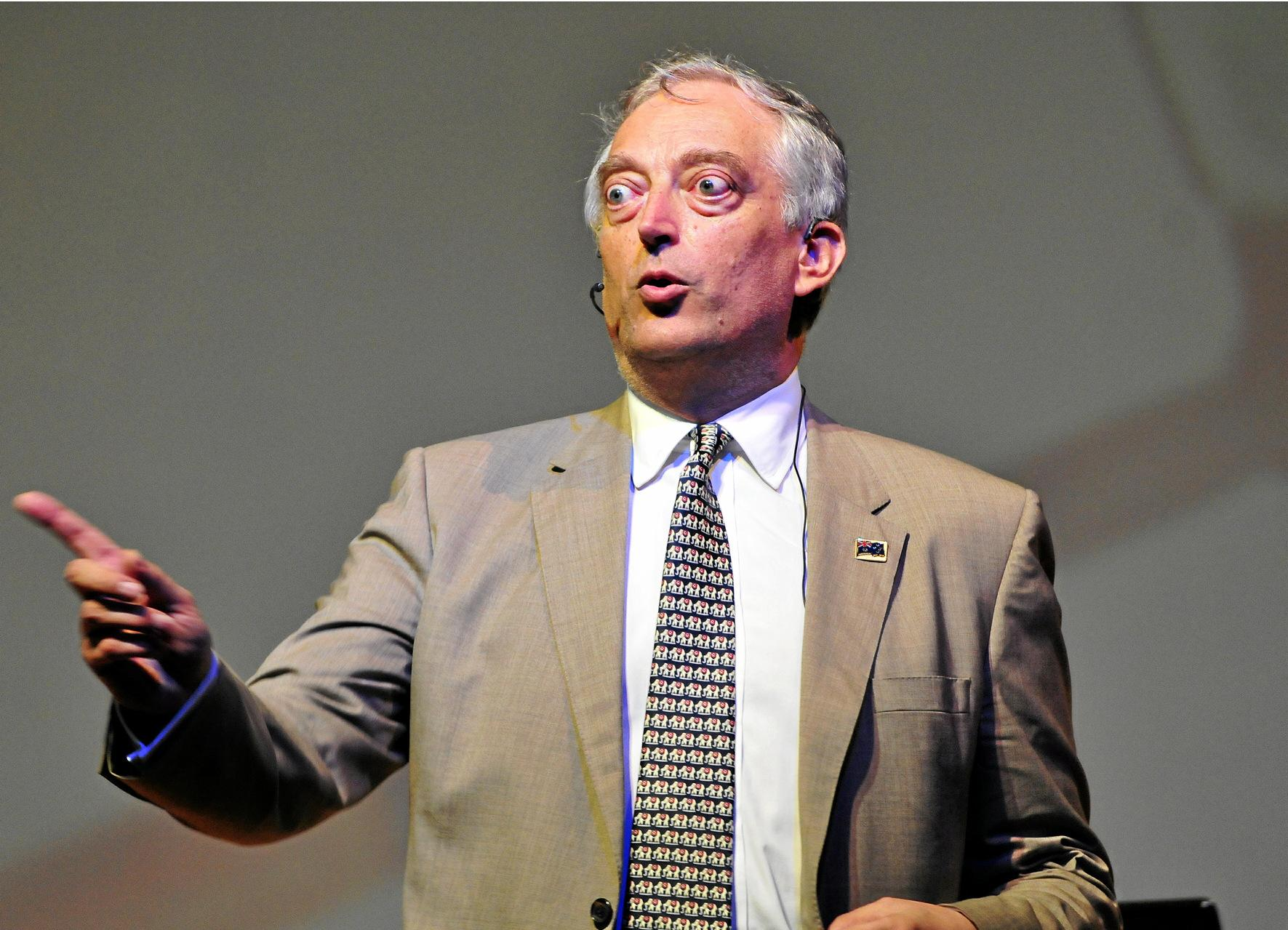 Lord Monckton at Noosa. Photo Geoff Potter / Noosa News