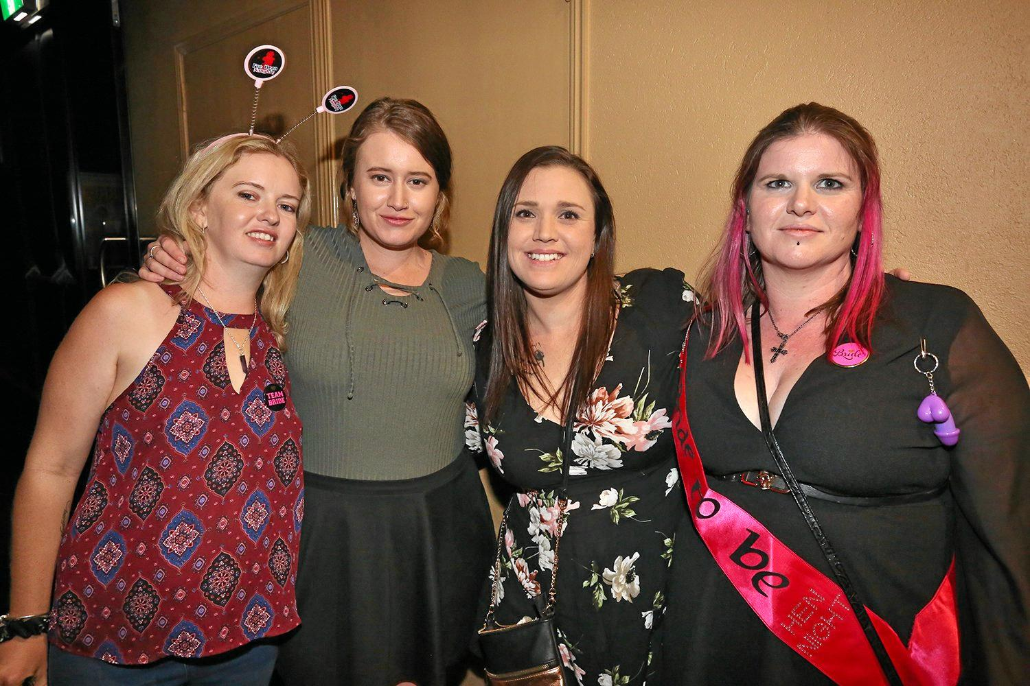 Rachel Mackenzie-Ross, Courtney Spannagle, Cassie Shambler and Mel Tidbury at Zodiac Nightclub.