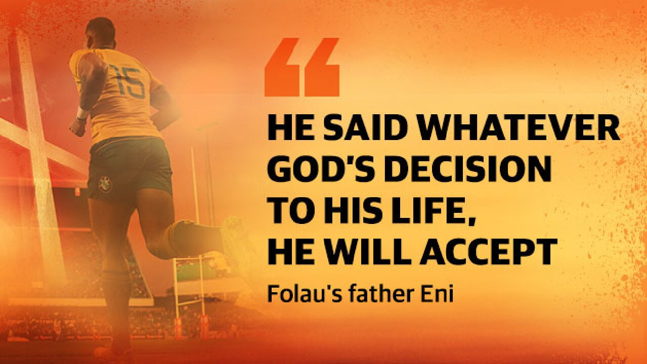 Israel Folau's father has been one of the driving forces behind his conversion.