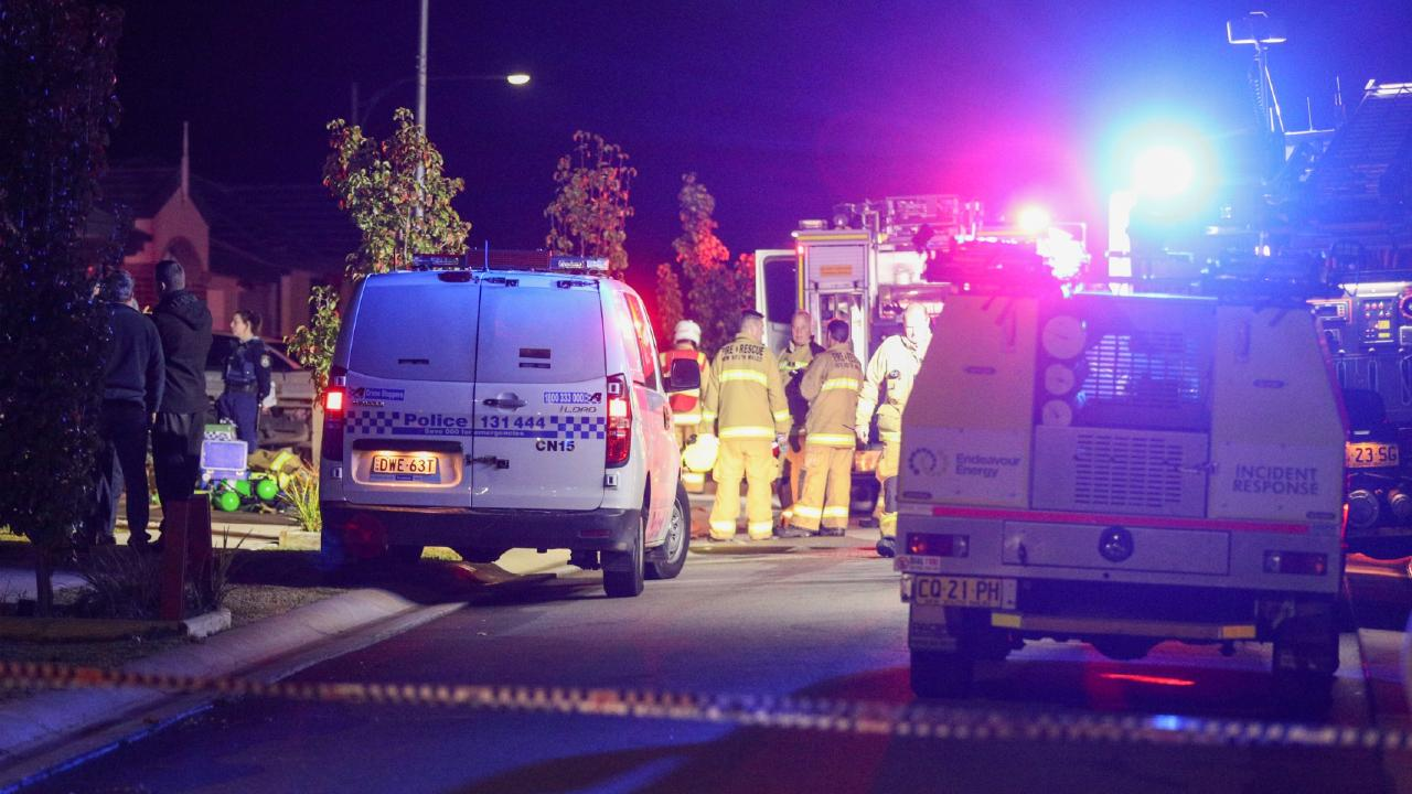 An investigation is underway after a body was found following a house fire in Sydney's south west overnight. Picture: Dean Asher