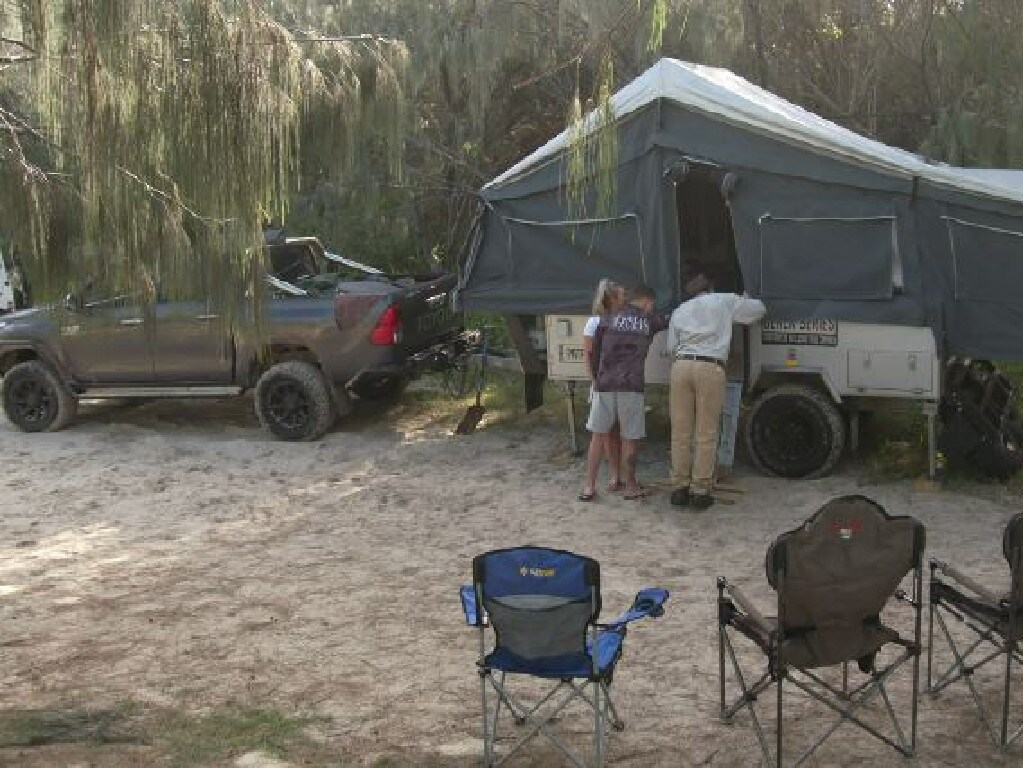 Hunter Allister was attacked by a dingo on Fraser Island when camping with his parents Luke & Sarah Allister - Picture:  Ch 9