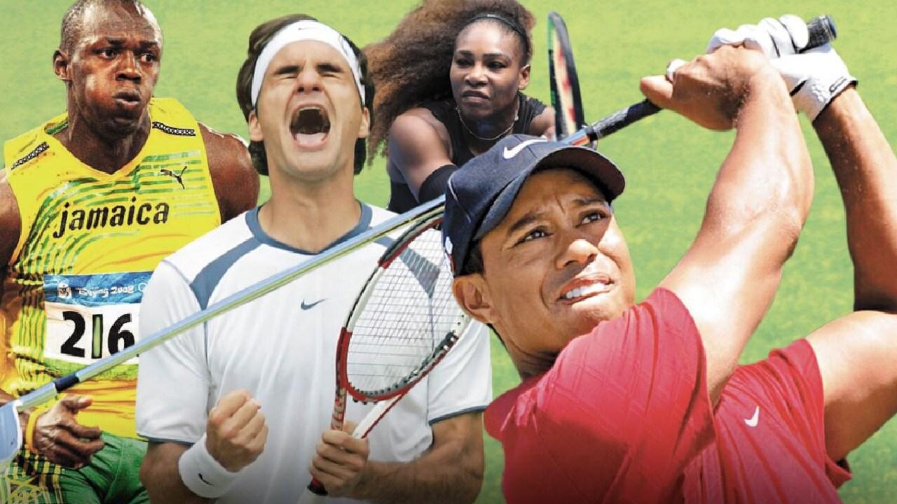 Usain Bolt, Roger Federer, Tiger Woods