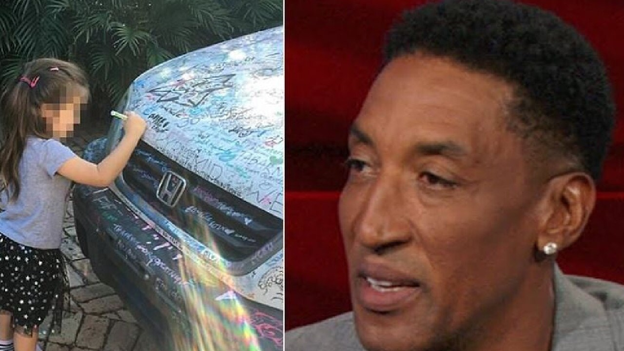Chicago Bulls star Scottie Pippen is suing a five year old girl for drawing on his home. Picture: Instagram/Supplied