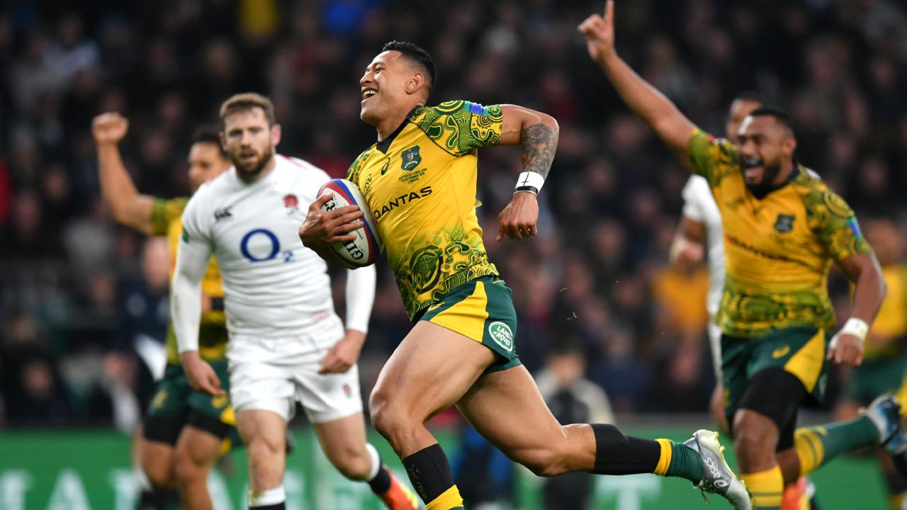 Israel Folau is seeking substantial remedies over his sacking by Rugby Australia. Picture: Dan Mullan/Getty Images