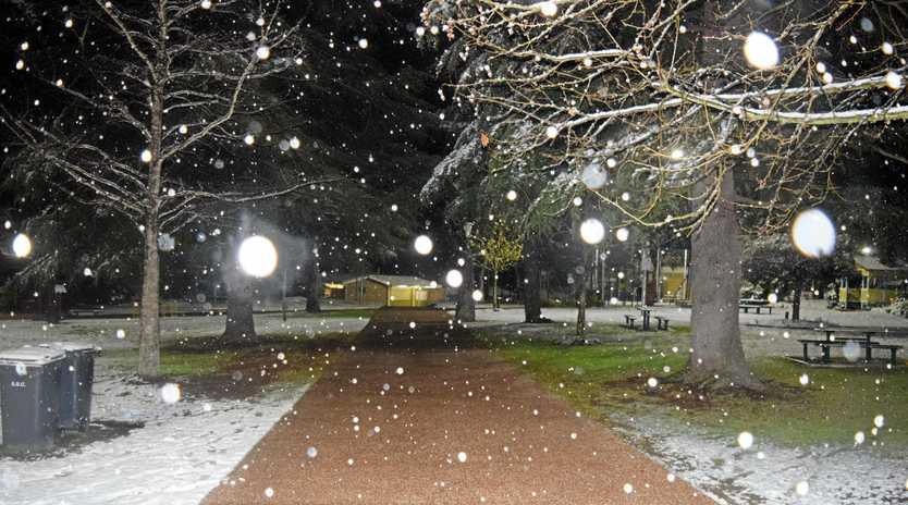 WINTER WONDERLAND: A snap from 2015 when Stanthorpe was blanketed in snow.