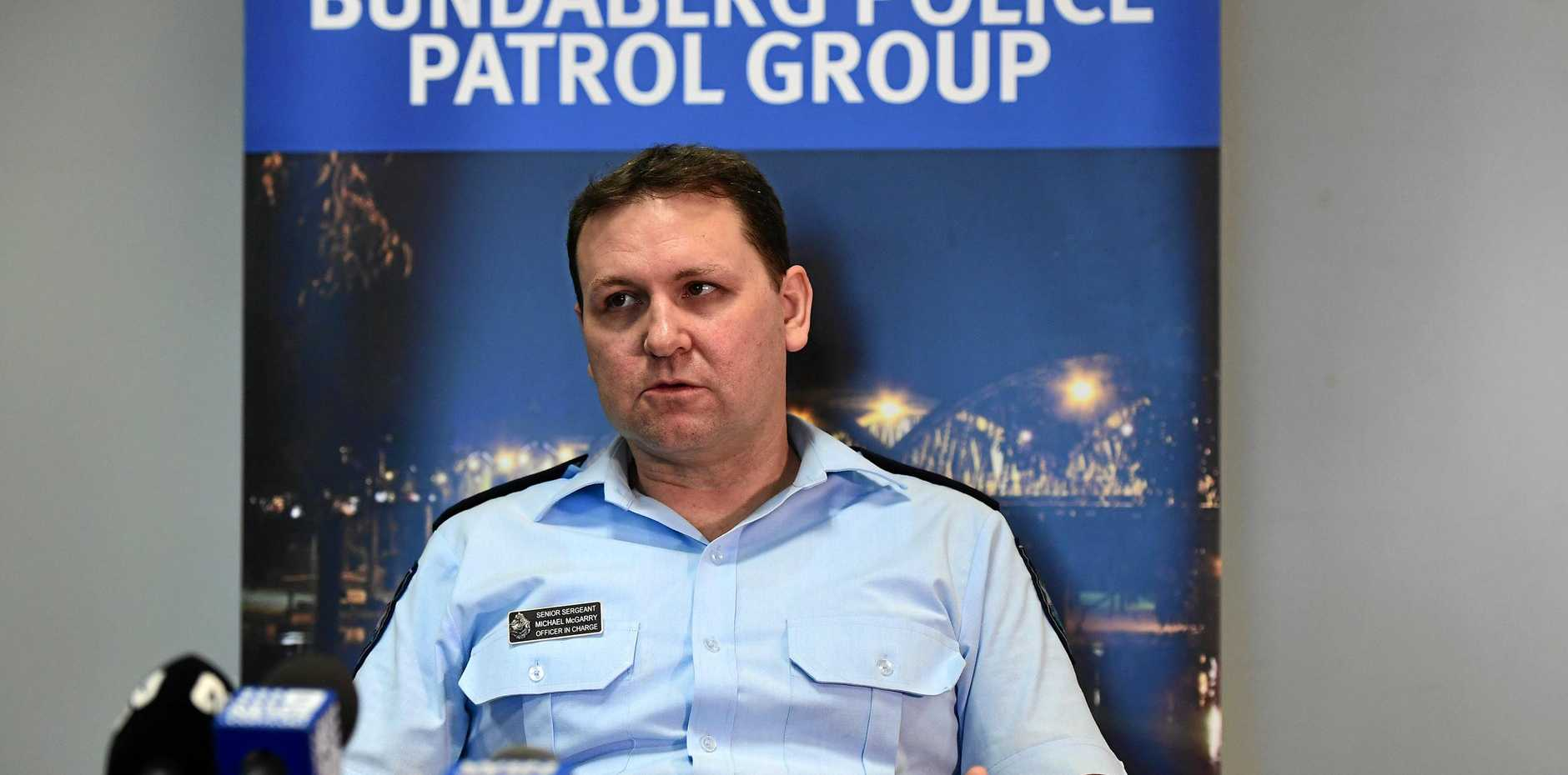 HEARTS BROKEN: Senior Sergeant Michael McGarry says emergency workers can't take much more carnage on the region's roads.