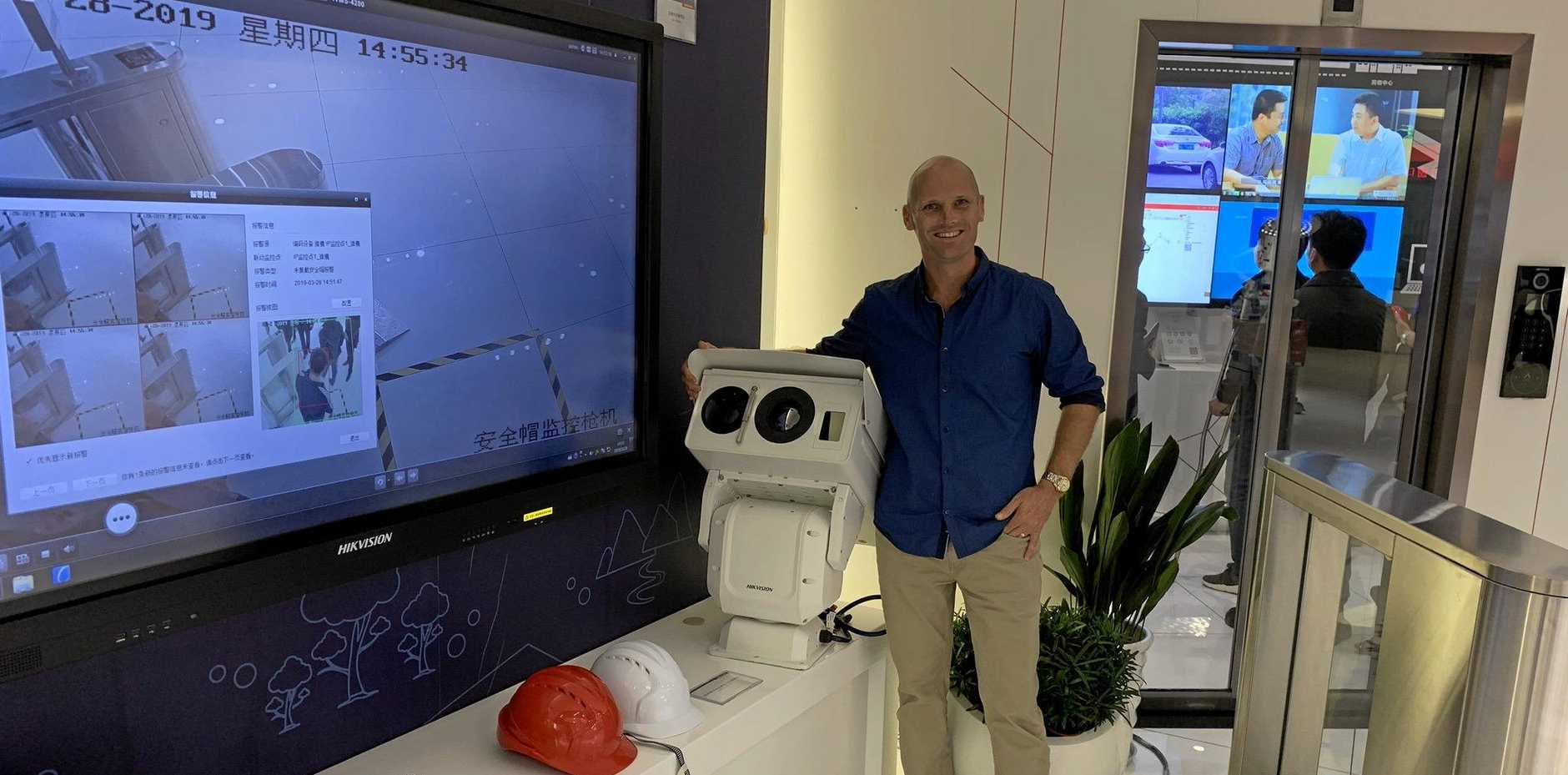 TECH HEAVEN: Secure Solutions CEO Peter Siokos visits HIKvision in Hangzhou.