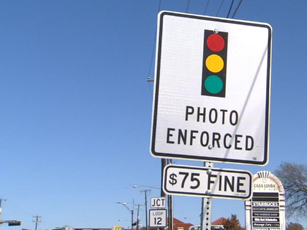 Texas red light cameras will be banned. Picture: Fox News