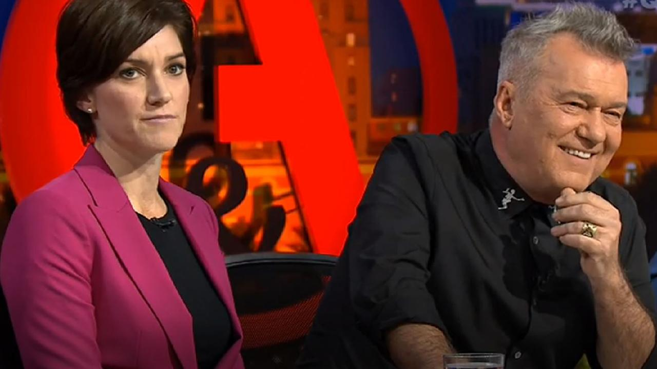 Nicolle Flint and Jimmy Barnes on Q&A. Picture: ABC