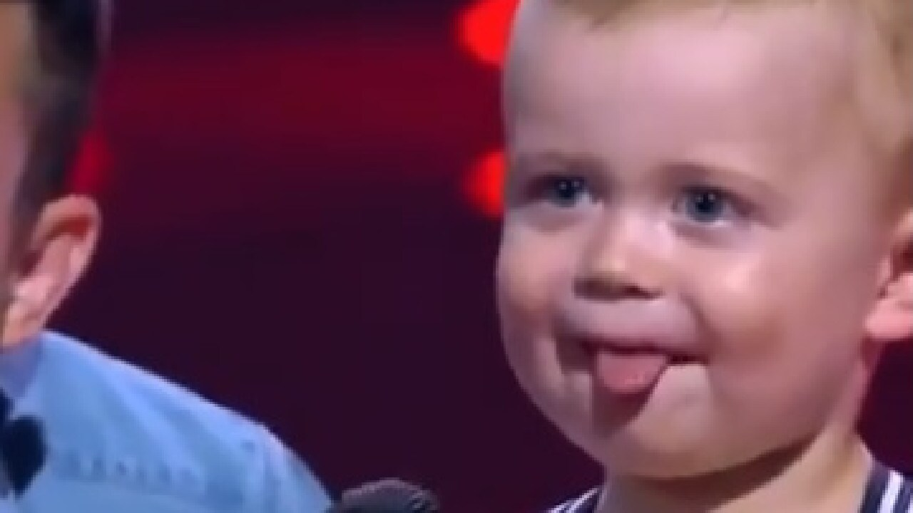 Two-year-old J.J. stole the show on The Voice on Sunday night.