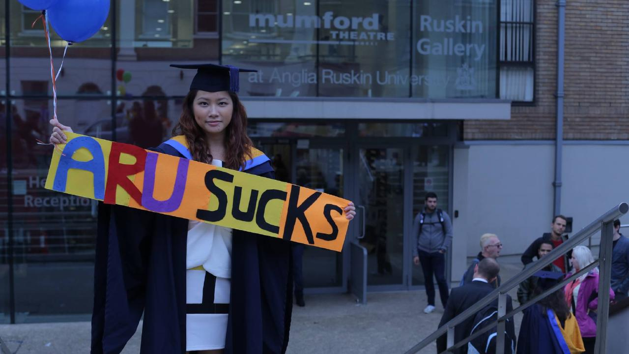 Fiona Pok claims she got a 'mickey mouse' degree. Picture: Facebook/Fiona Pok