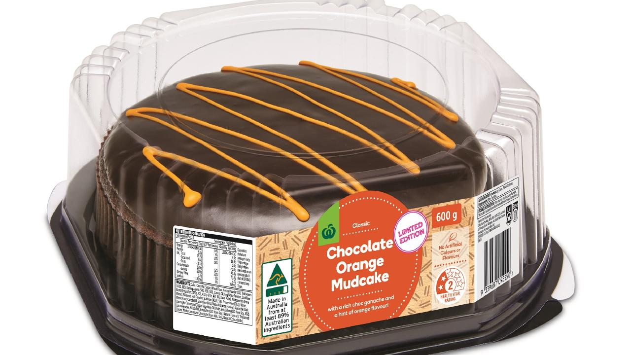 Woolies has launched a brand new twist on their mud cake — Chocolate Orange.