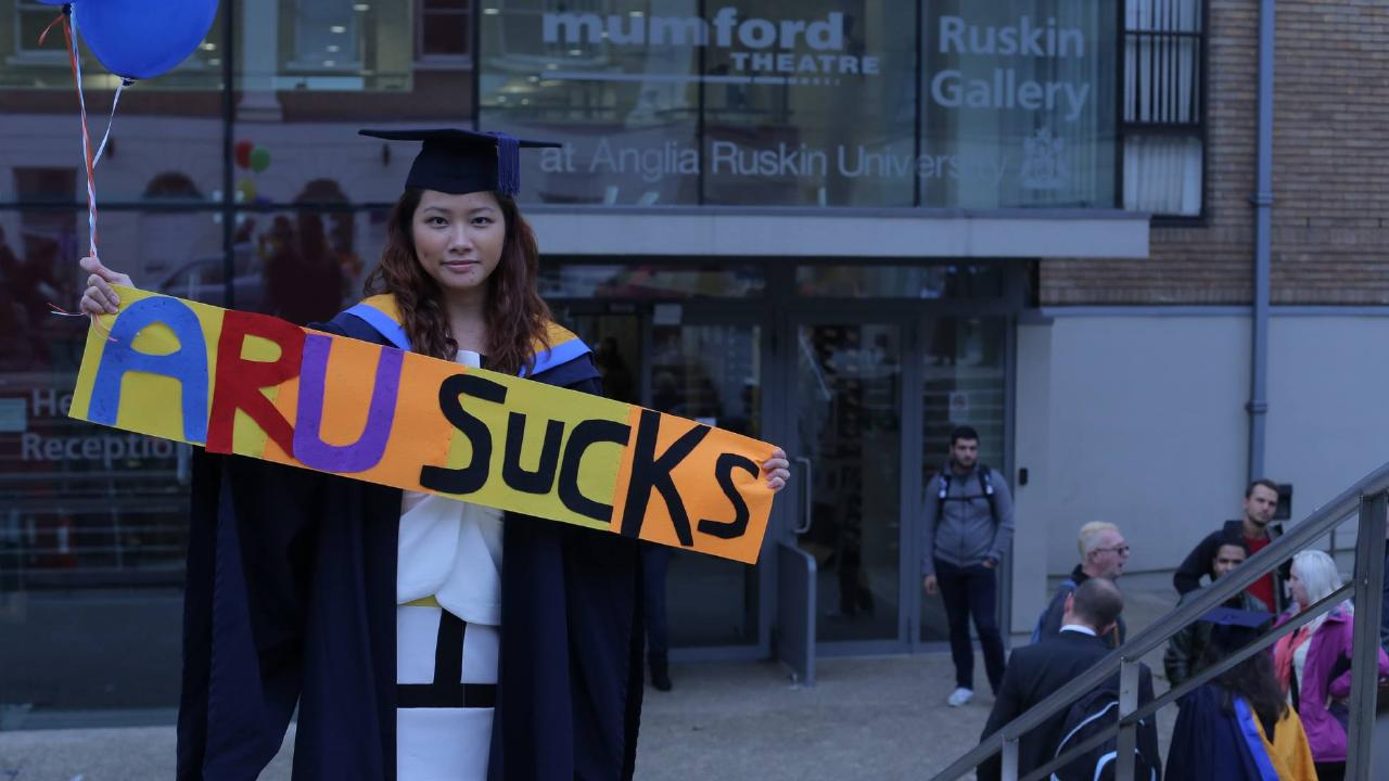 Fiona Pok claims she was left with a 'mickey mouse' degree. Picture: Facebook/Fiona Pok