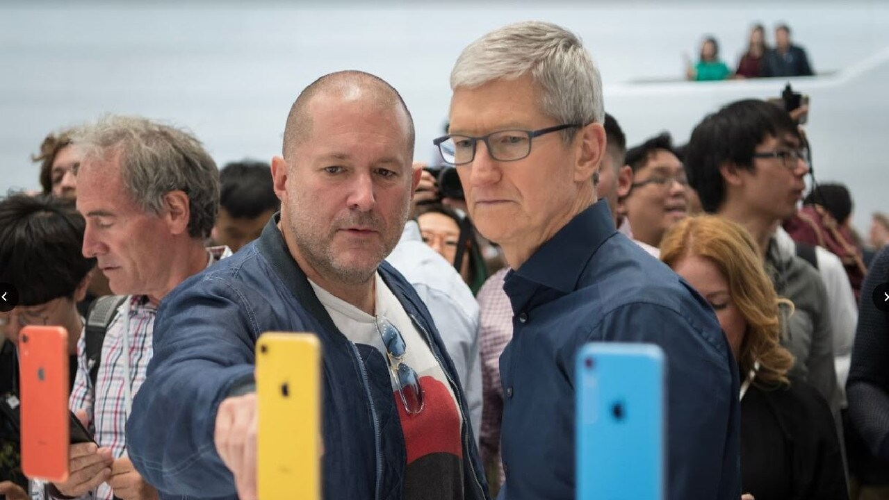 Apple CEO Tim Cook (right) is expected to announce big changes to the way the company delivers music at WWDC 2019. Picture: Jennifer Dudley-Nicholson/News Corp Australia Network