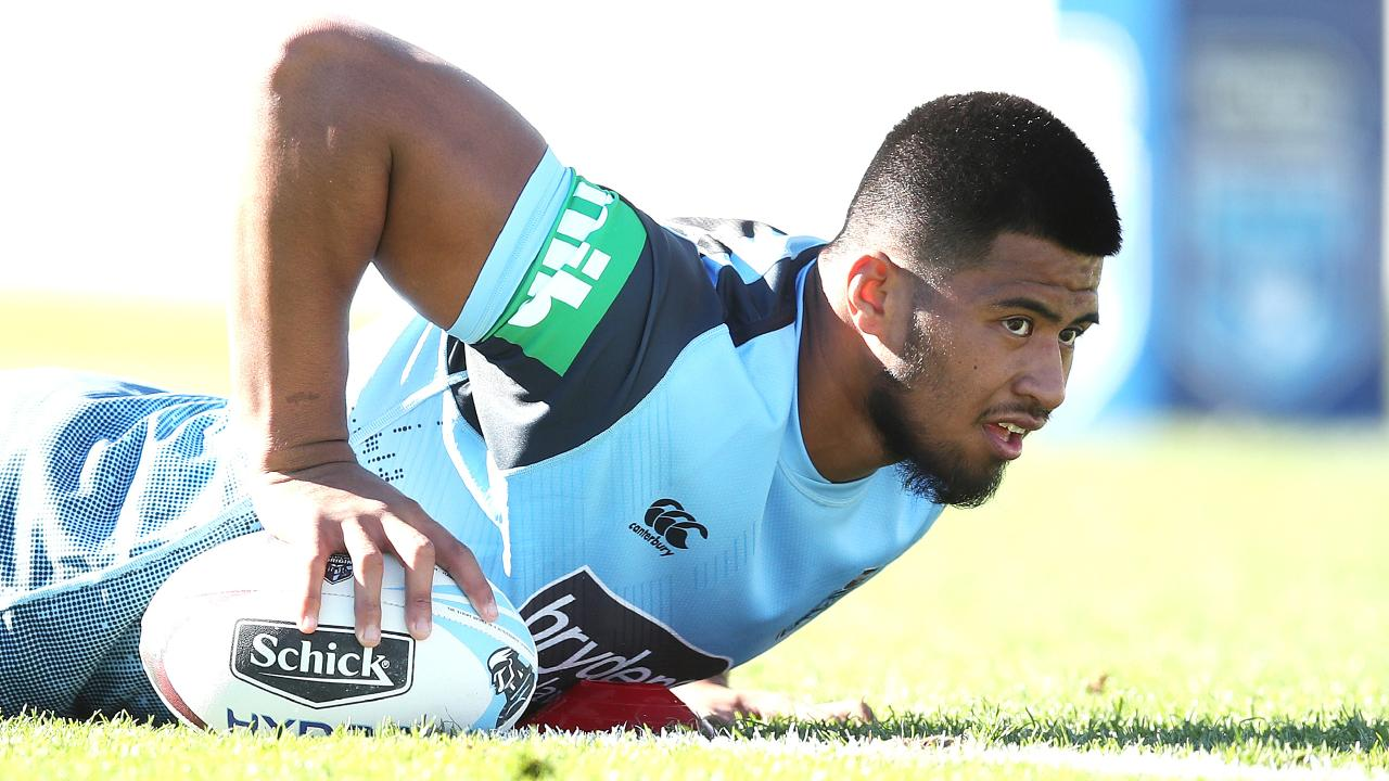 Payne Haas makes his Origin debut on Wednesday night. Picture: Phil Hillyard