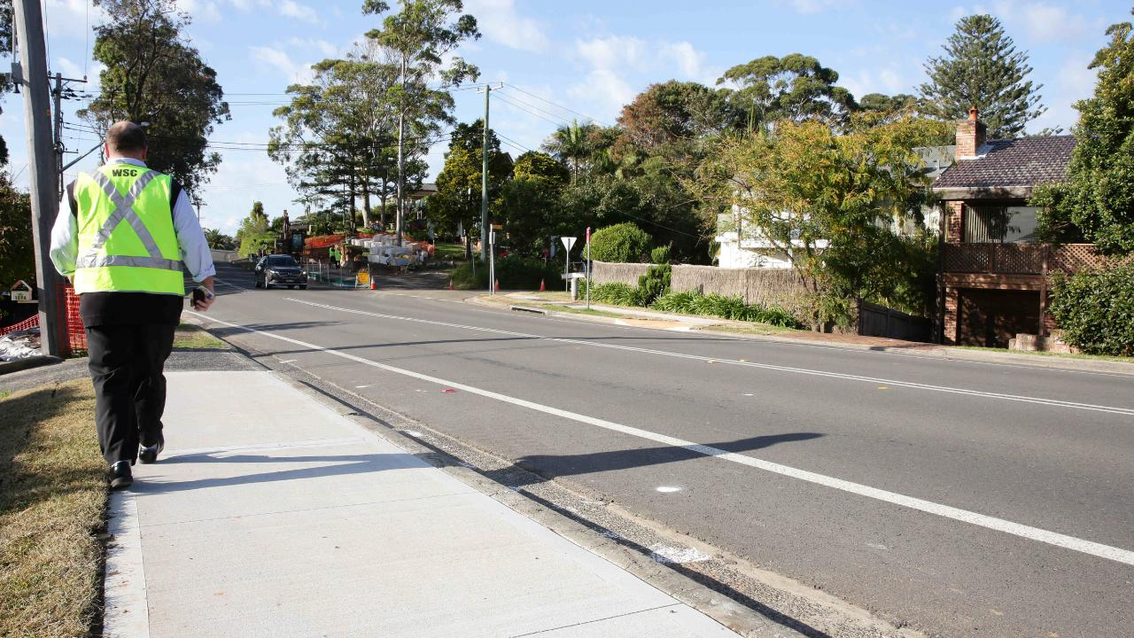 The road has since been improved and a pedestrian refuge was installed. Picture: Sue Graham