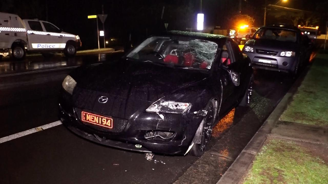 The car Belkadi was driving when he crossed onto the wrong side of the road, hitting the two women. Picture: Digicrew Australia