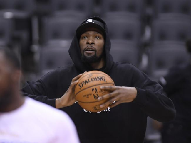 Golden State Warriors star Kevin Durant is edging closer to a return. Picture: AP