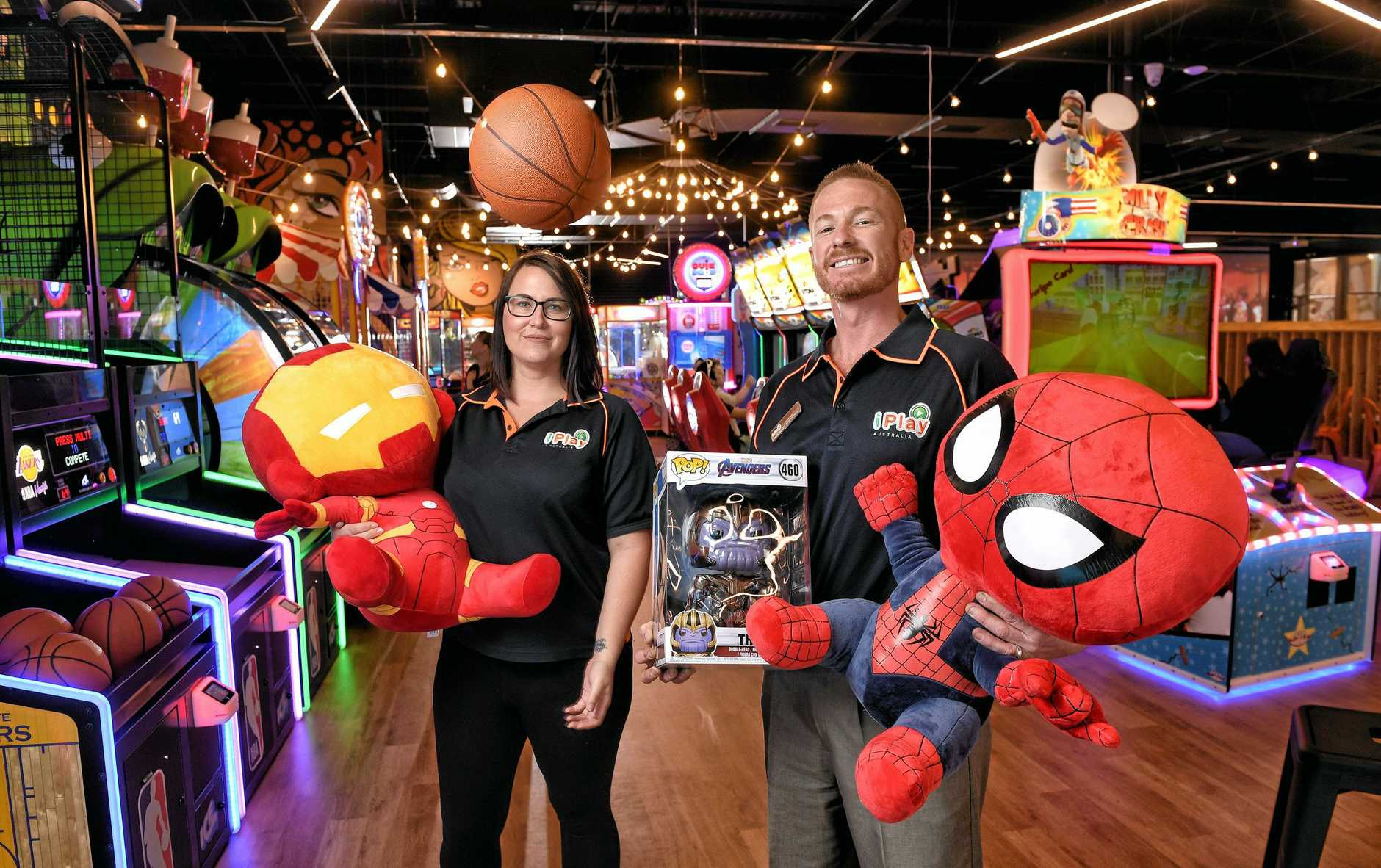IPlay has opened at Riverlink Shopping Centre. Iplay Redbank and Toowoomba manager Storm Leith (left) and Iplay Ipswich manager Sean Ryan.