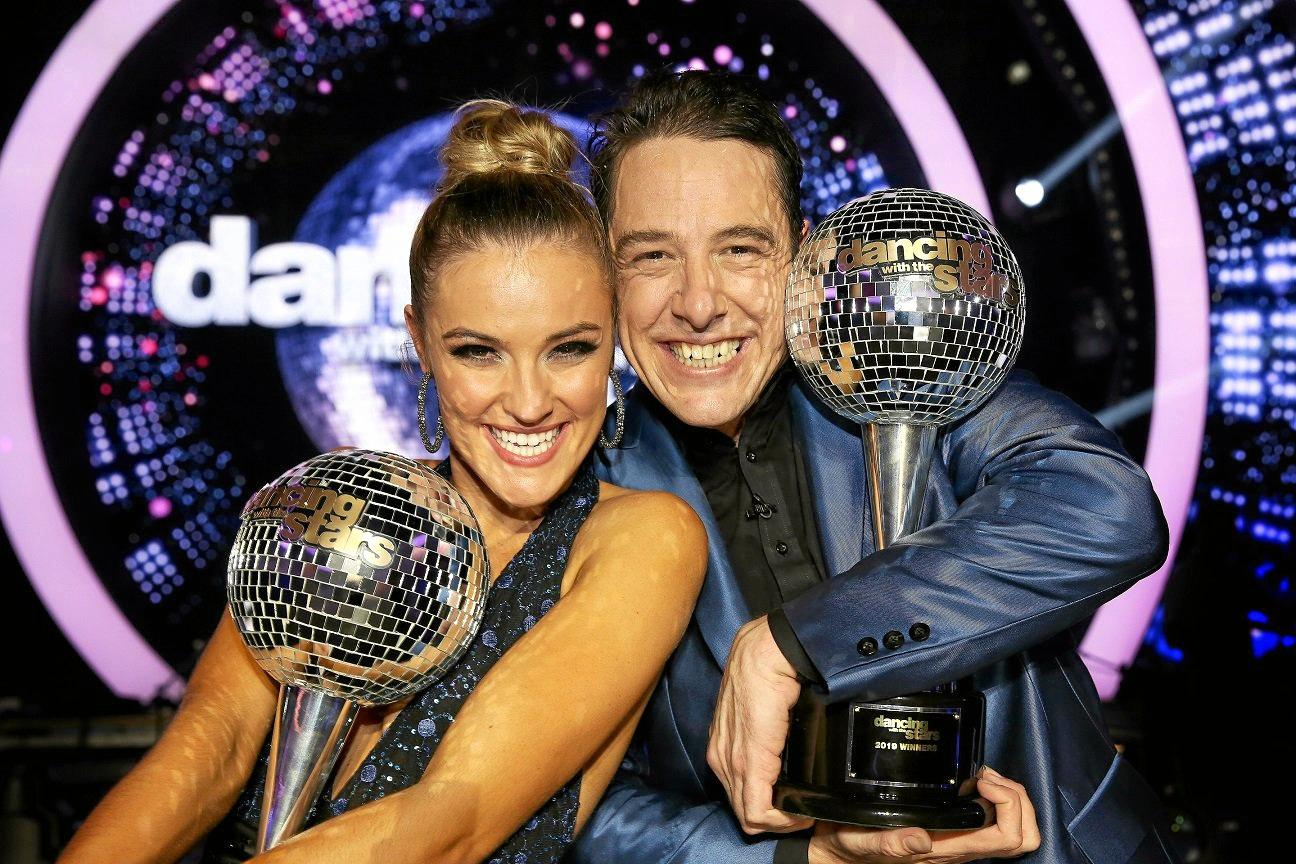 CANCER CRUSADE: Samuel Johnson (pictured with Dancing With The Stars partner Jorja Rae Freeman) will be at the Maryborough markets on Thursday.